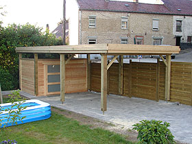 Couverture carport toit plat