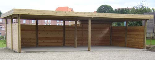 Index of carport image carport toit plat m for Garage en bois a toit plat