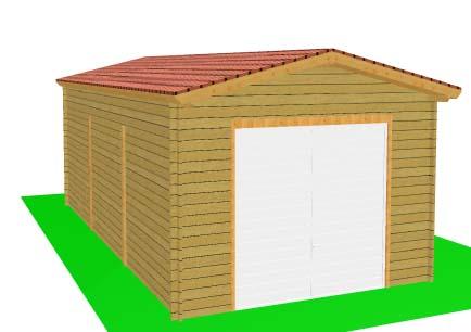 Garage en boispour camping car for Porte de garage camping car