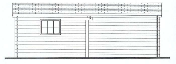 garage en bois une place garage voiture. Black Bedroom Furniture Sets. Home Design Ideas