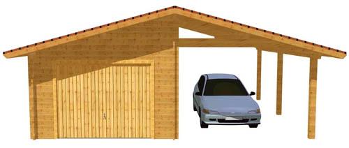 Garage bois et abris voiture vendu en kits - Appenti bois kit ...