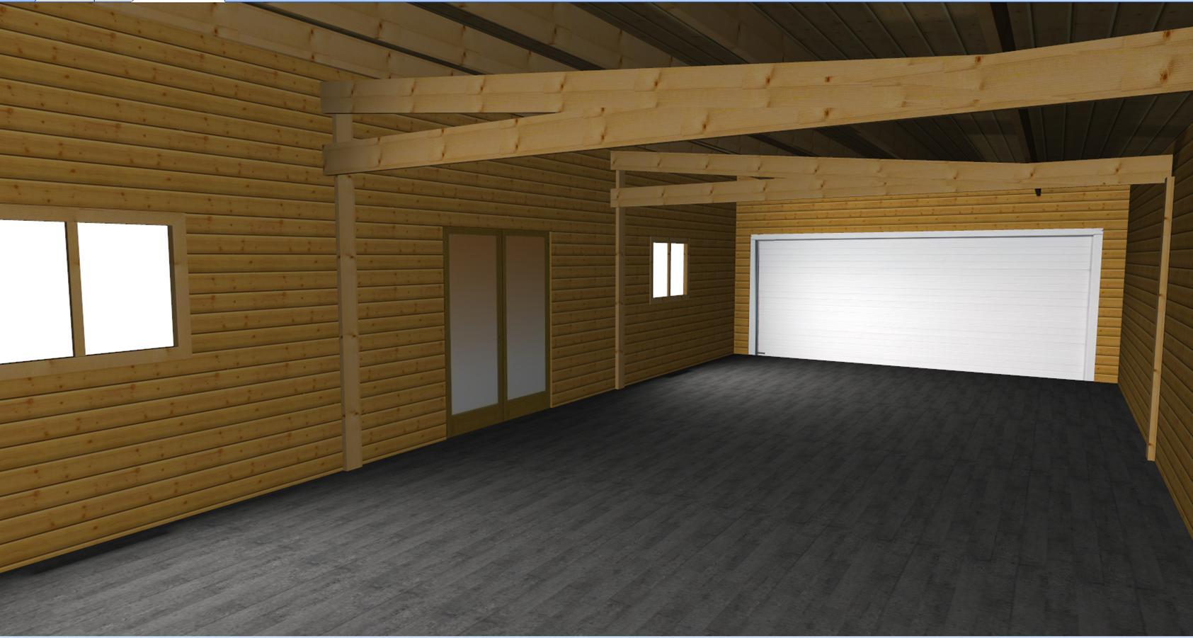 Garage Bois Une Place 3 95 De Large Monopente