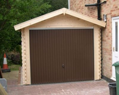 porte de garage metal hotmann berry  marron