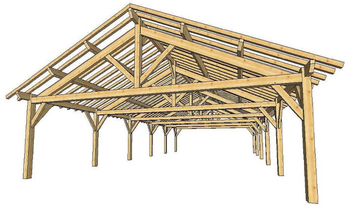 Carport voiture en bois adossable - Plan de carport en bois gratuit ...