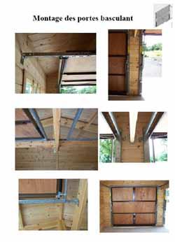Notice et explication de montage des garages en bois - Montage porte basculante ...