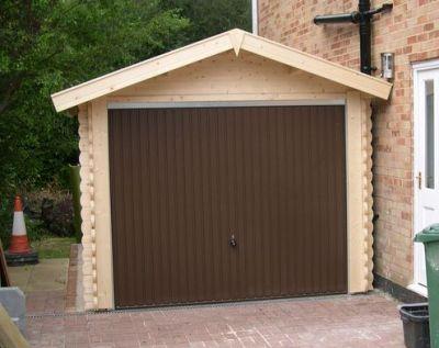 garage bois toit plat avec abris vehicule. Black Bedroom Furniture Sets. Home Design Ideas